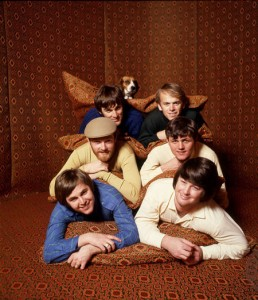The Beach Boys pose in the Arabian tent in Brian's Bel Air Home for the Smile album. (Photo: Guy Webster)
