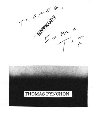 Entropy-Analysis of Thomas Pynchon's Short Story