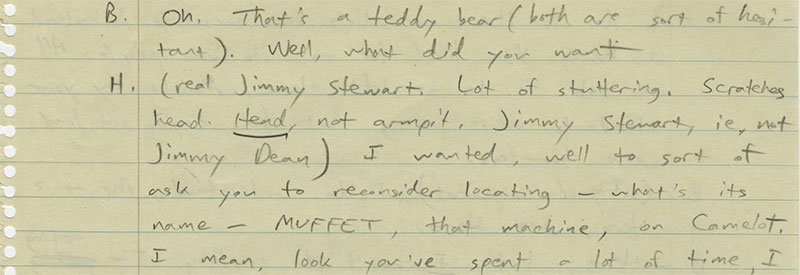 Pynchon Handwritten Notes