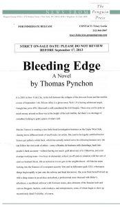 Thomas Pynchon - Bleeding Edge - Release