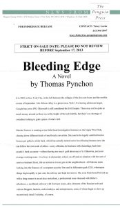 Thomas Pynchon - Bleeding Edge - Release
