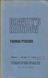 Thomas Pynchon - Gravity's Rainbow - Advance Galleys