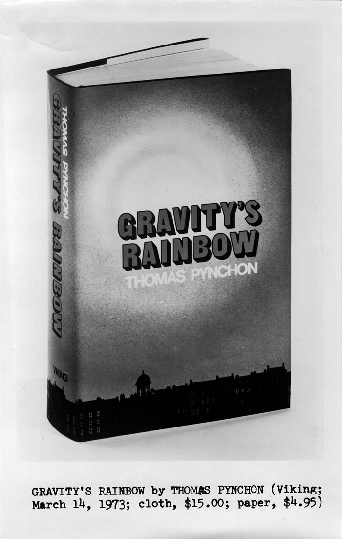 pynchons gravitys rainbow essay If they can get you asking the wrong questions, they don't have to worry about answers – gravity's rainbow article last updated: 8:03 pm wednesday,&nbspjanuary 10, 2018 greenwich mean time (gmt).