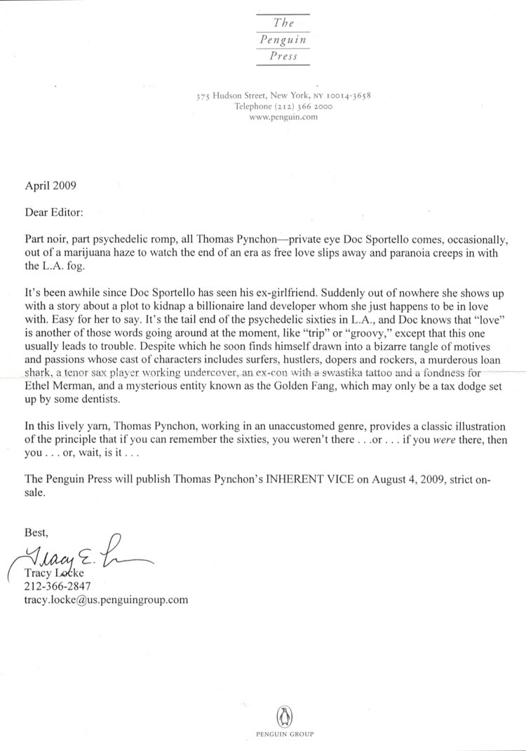 thomas pynchon inherent vice pdf